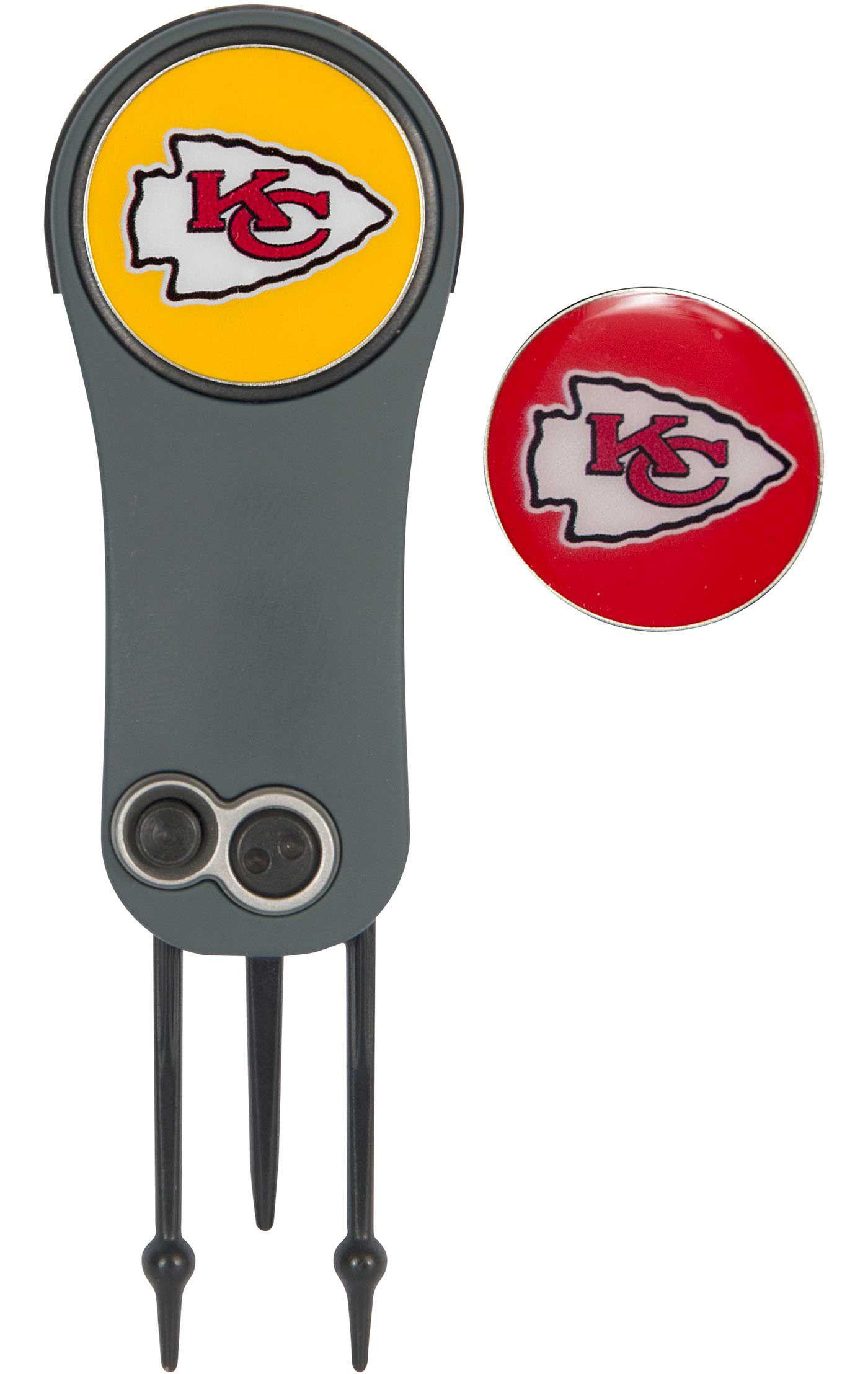 Team Effort Kansas City Chiefs Switchblade Divot Tool and Ball Marker Set