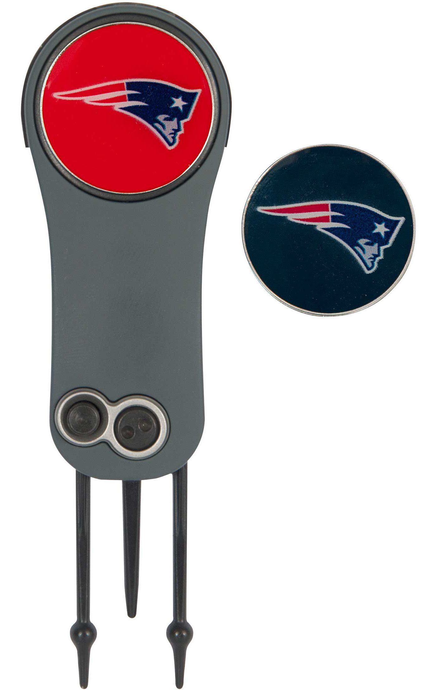 Team Effort New England Patriots Switchblade Divot Tool and Ball Marker Set