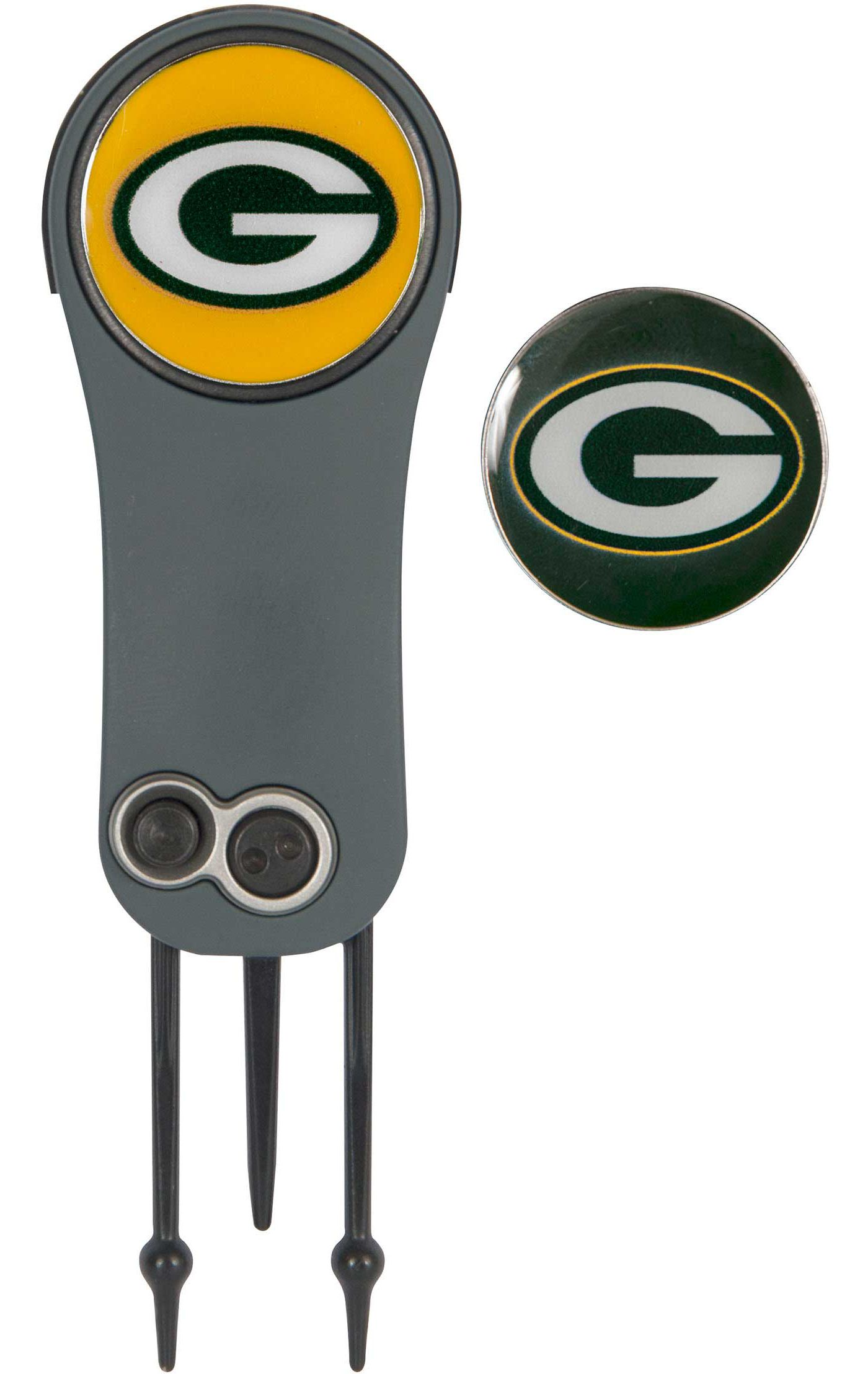 Team Effort Green Bay Packers Switchblade Divot Tool and Ball Marker Set