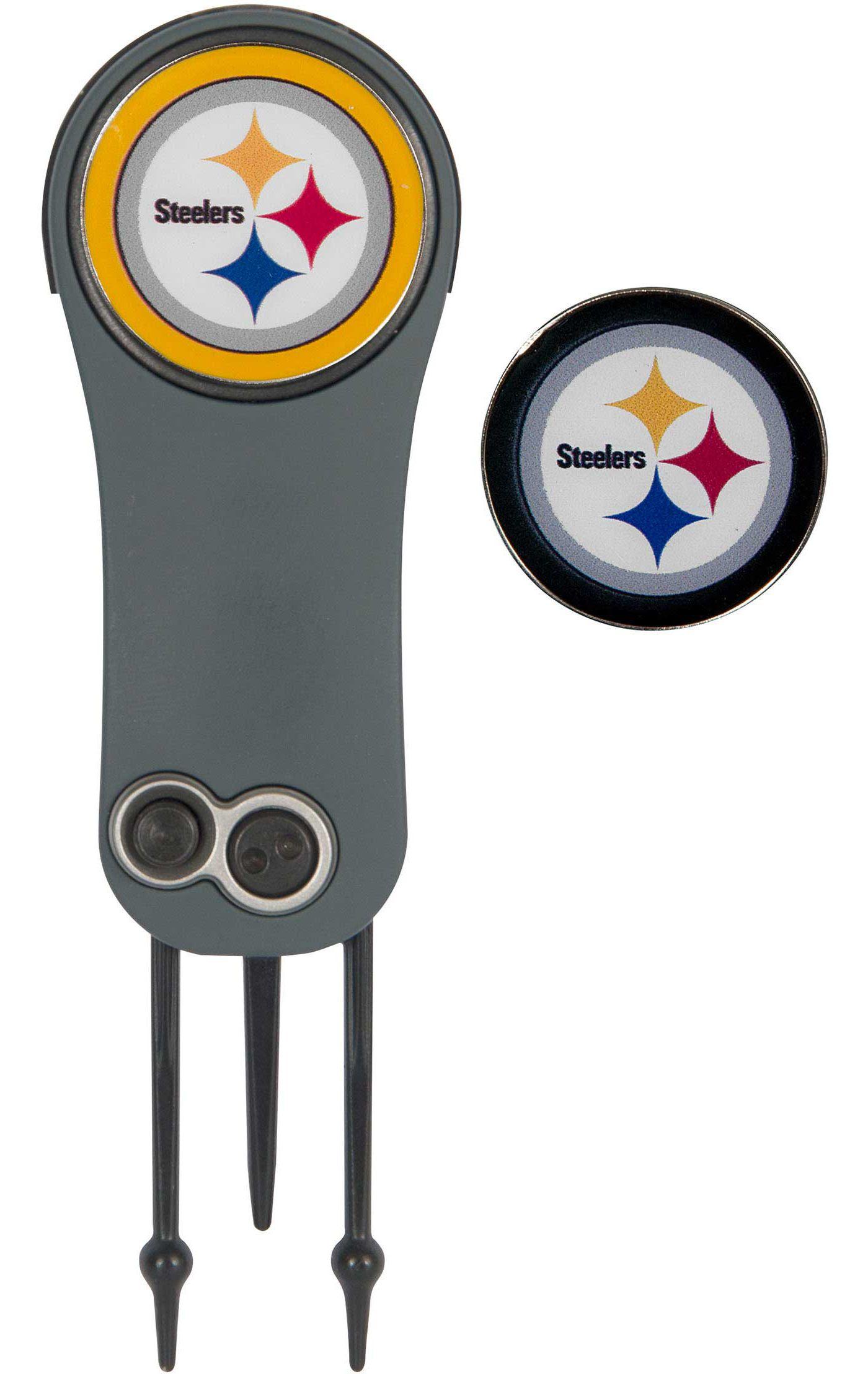 Team Effort Pittsburgh Steelers Switchblade Divot Tool and Ball Marker Set