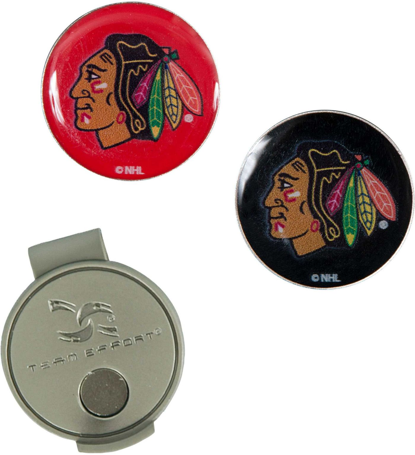 Team Effort Chicago Blackhawks Hat Clip and Ball Markers Set