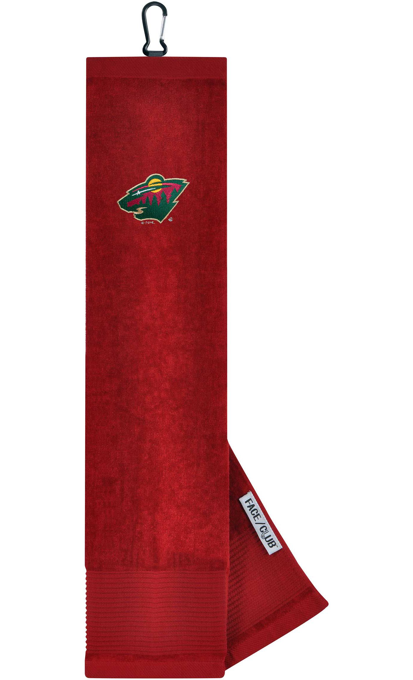 Team Effort Minnesota Wild Embroidered Face/Club Tri-Fold Towel