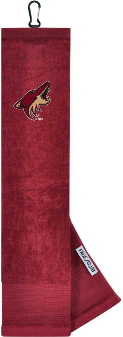 Team Effort Arizona Coyotes Embroidered Face/Club Tri-Fold Towel