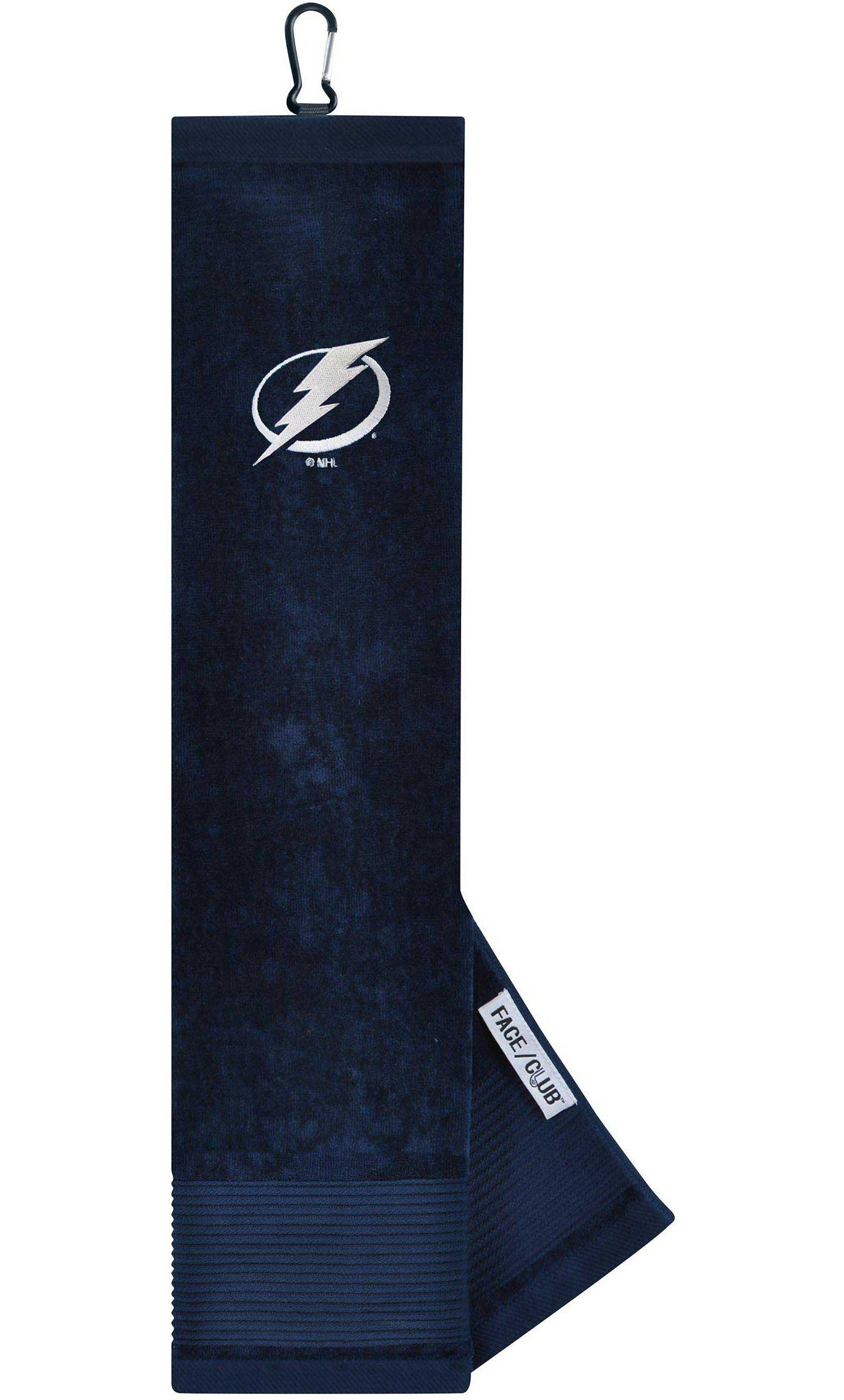 Team Effort Tampa Bay Lightning Embroidered Face/Club Tri-Fold Towel