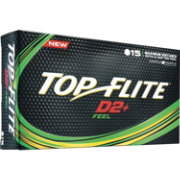 Top Flite D2+ Feel Personalized Golf Balls – 15 Pack