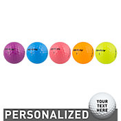 Top Flite Women's D2+ Diva Neon Personalized Golf Balls ? 15 Pack