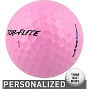 Top Flite Women's D2+ Diva Pink Personalized Golf Balls ? 15 Pack