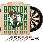 Trademark Global Boston Celtics Basketball Club Dart Cabinet Set