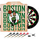 Trademark Global Boston Celtics Basketball Club Dart Cabinet Set