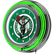 Trademark Global Boston Celtics Chrome Neon Clock