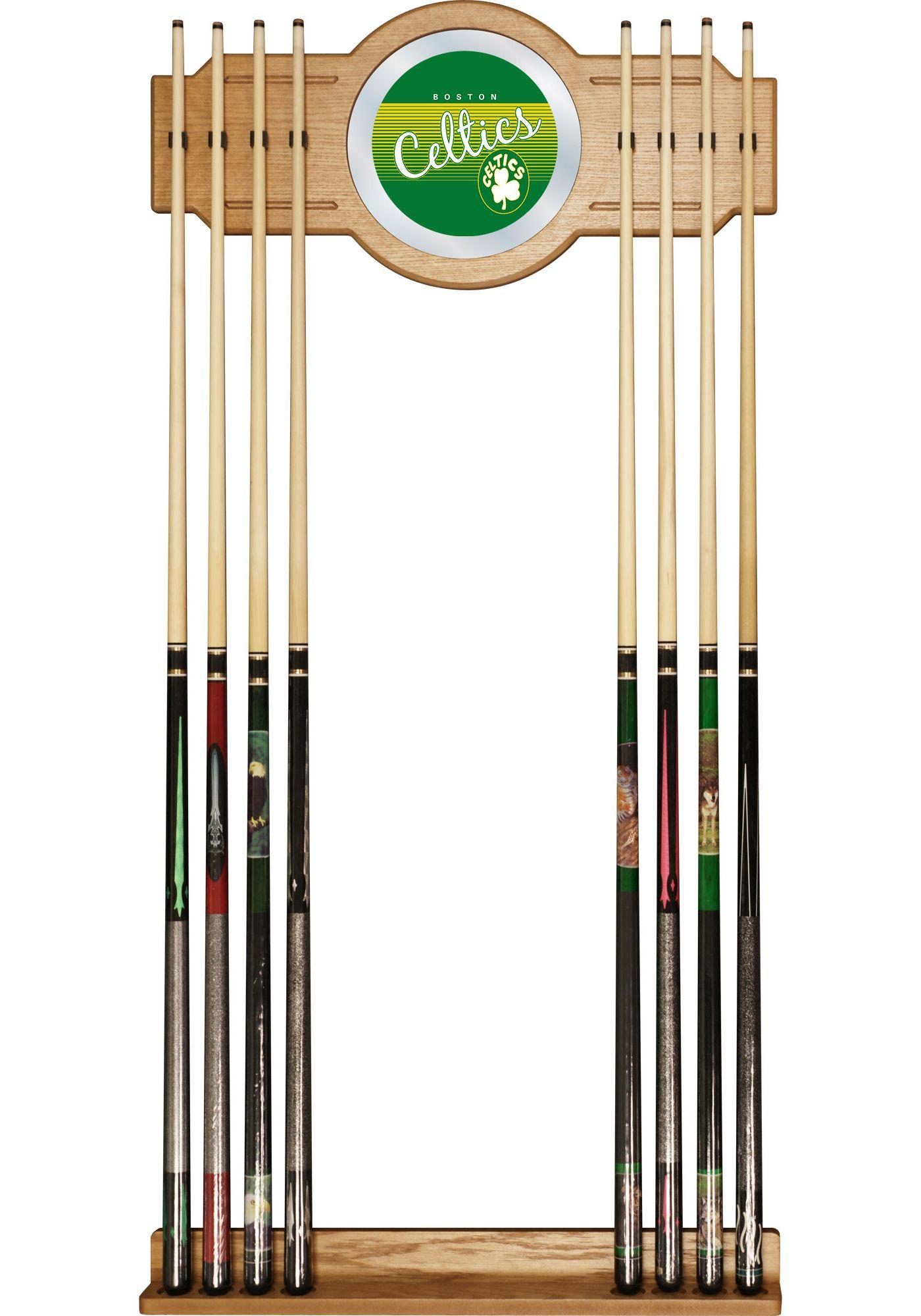 Trademark Global Boston Celtics Cue Rack with Mirror