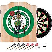 Trademark Global Boston Celtics Dart Cabinet Set