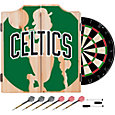 Trademark Global Boston Celtics Fade Logo Dart Cabinet Set