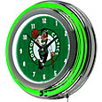 Trademark Global Boston Celtics City Chrome Neon Clock
