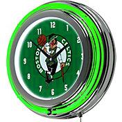 Trademark Global Boston Celtics City Chrome Neon Clock