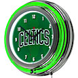 Trademark Global Boston Celtics Fade Chrome Neon Clock
