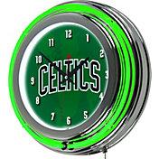 Trademark Global Boston Celtics Fade Chrome Neon Clock