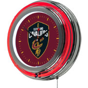 Trademark Global Cleveland Cavaliers Chrome Neon Clock