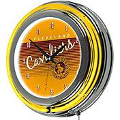 Trademark Global Cleveland Cavaliers Hardwood Classic Clock