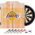 Trademark Global Los Angeles Lakers Basketball Club Dart Cabinet Set