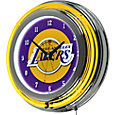Trademark Global Los Angeles Lakers Chrome Neon Clock