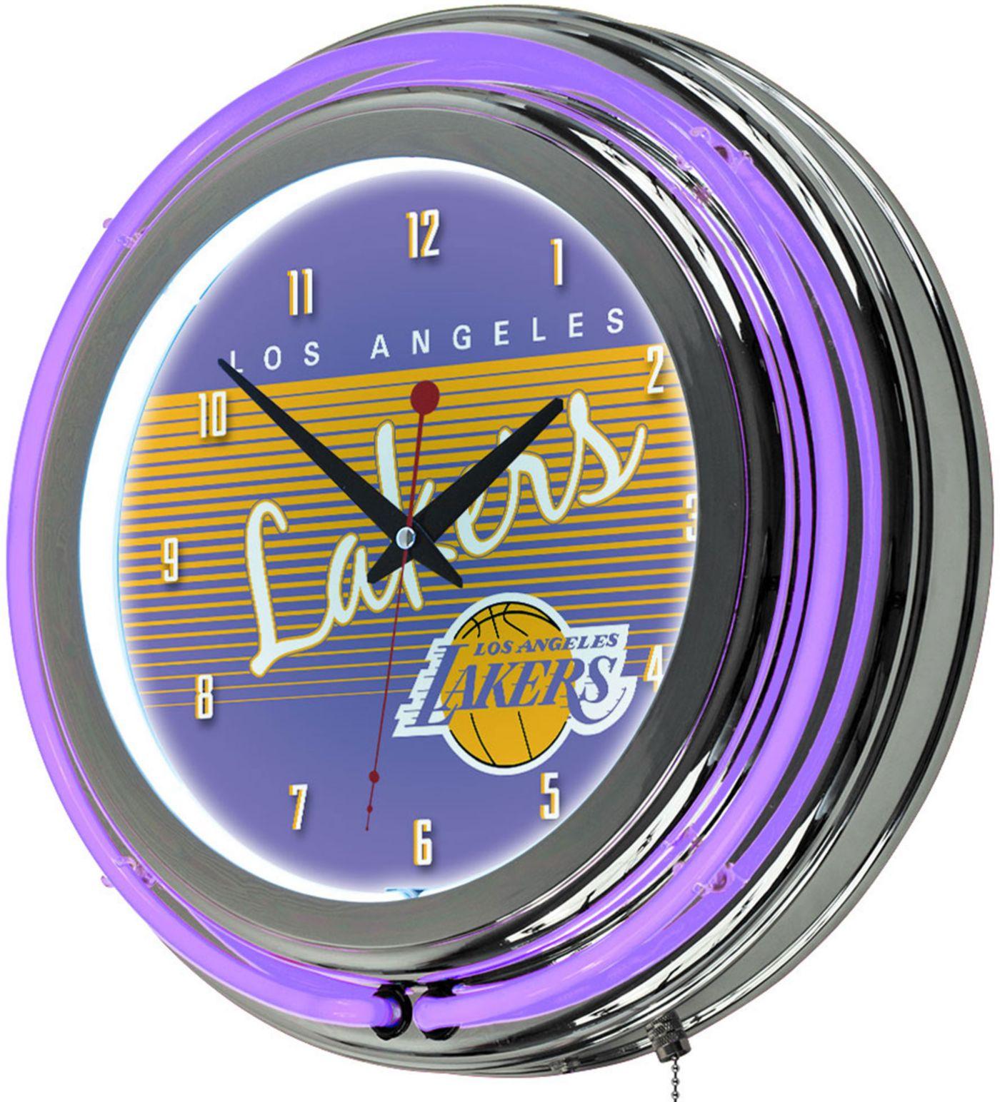 Trademark Global Los Angeles Lakers Hardwood Classic Clock