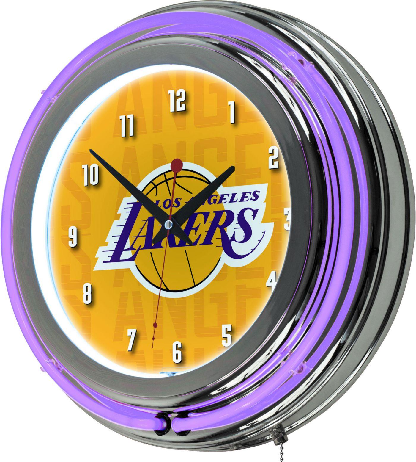 Trademark Global Los Angeles Lakers City Logo Neon clock