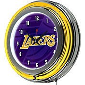 Trademark Global Los Angeles Lakers Fade Logo Neon Clock