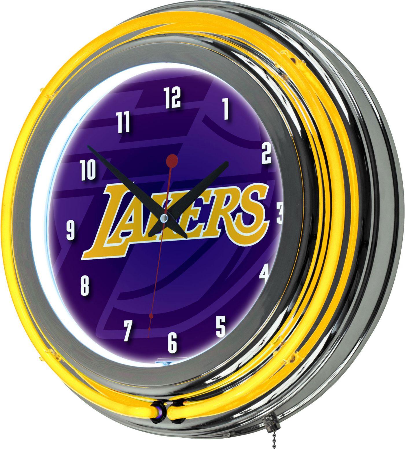 Trademark Global Los Angeles Lakers Fade Logo Neon Clock