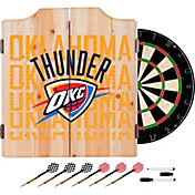 Trademark Global Oklahoma City Thunder Basketball Club Dart Cabinet Set