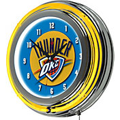 Trademark Global Oklahoma City Thunder Chrome Neon Clock