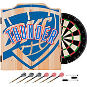 Trademark Global Oklahoma City Thunder Fade Logo Dart Cabinet Set