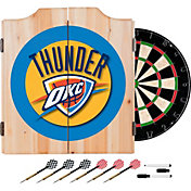 Trademark Global Oklahoma City Thunder Dart Cabinet Set