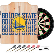 Trademark Global Golden State Warriors Basketball Club Dart Cabinet Set