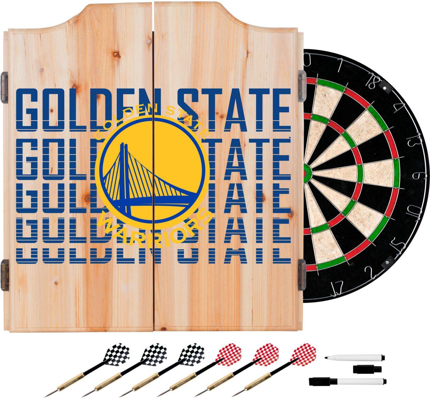 Trademark Global Golden State Warriors Basketball Club Dart Cabinet Set