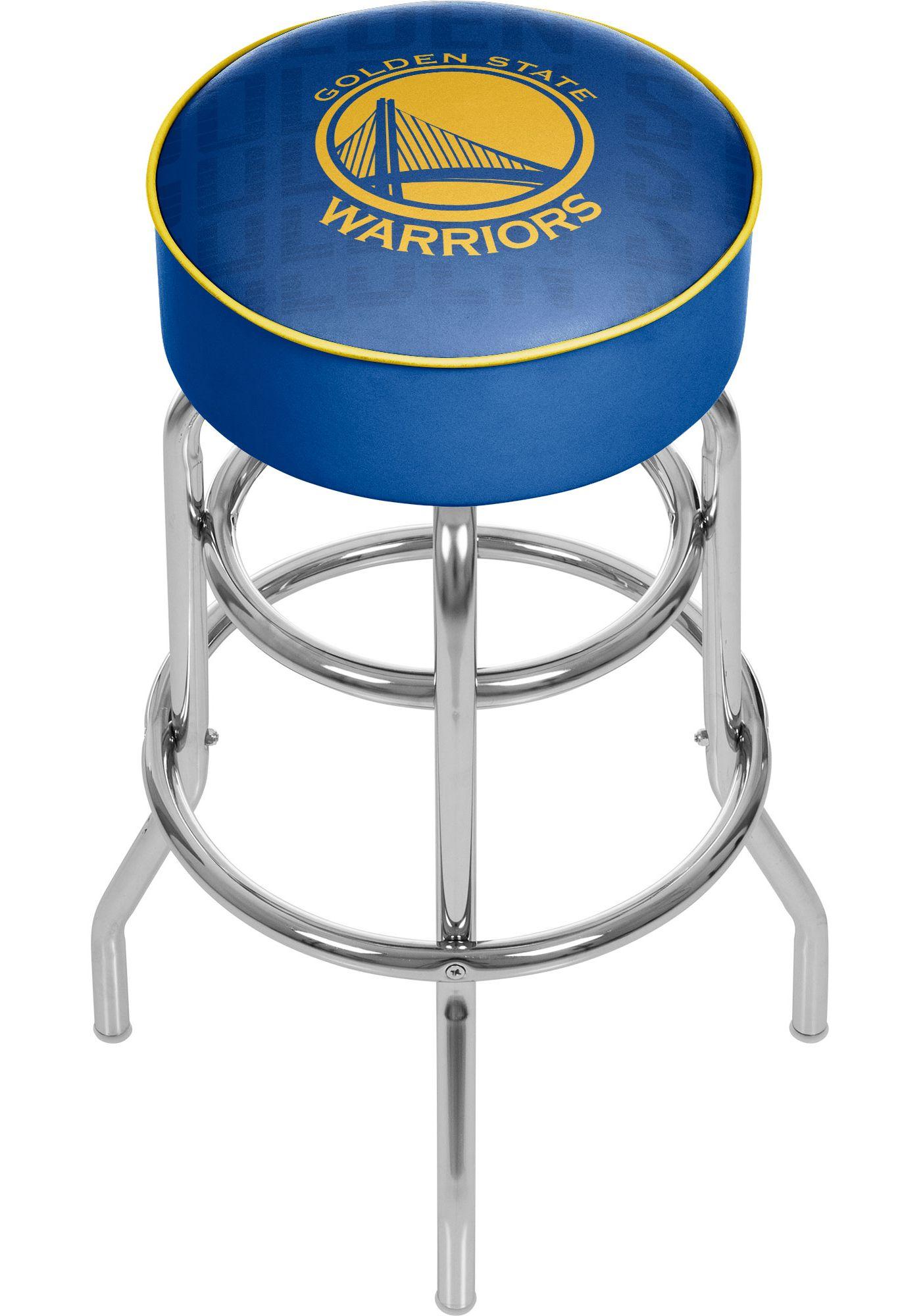 Trademark Global Golden State Warriors Basketball Club Stool