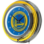 Trademark Global Golden State Warriors Chrome Neon Clock
