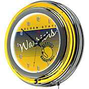 Trademark Global Golden State Warriors Classic Neon Clock