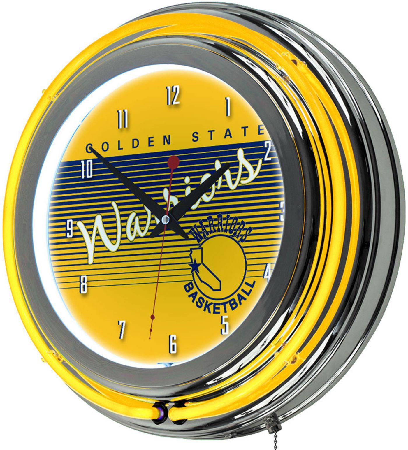 Trademark Global Golden State Warriors Classic Neon Clock