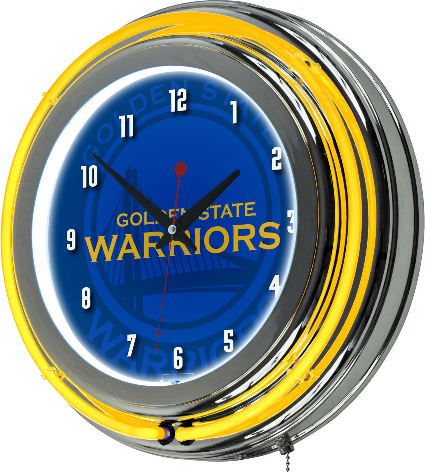 Trademark Global Golden State Warriors Fade Logo Neon Clock