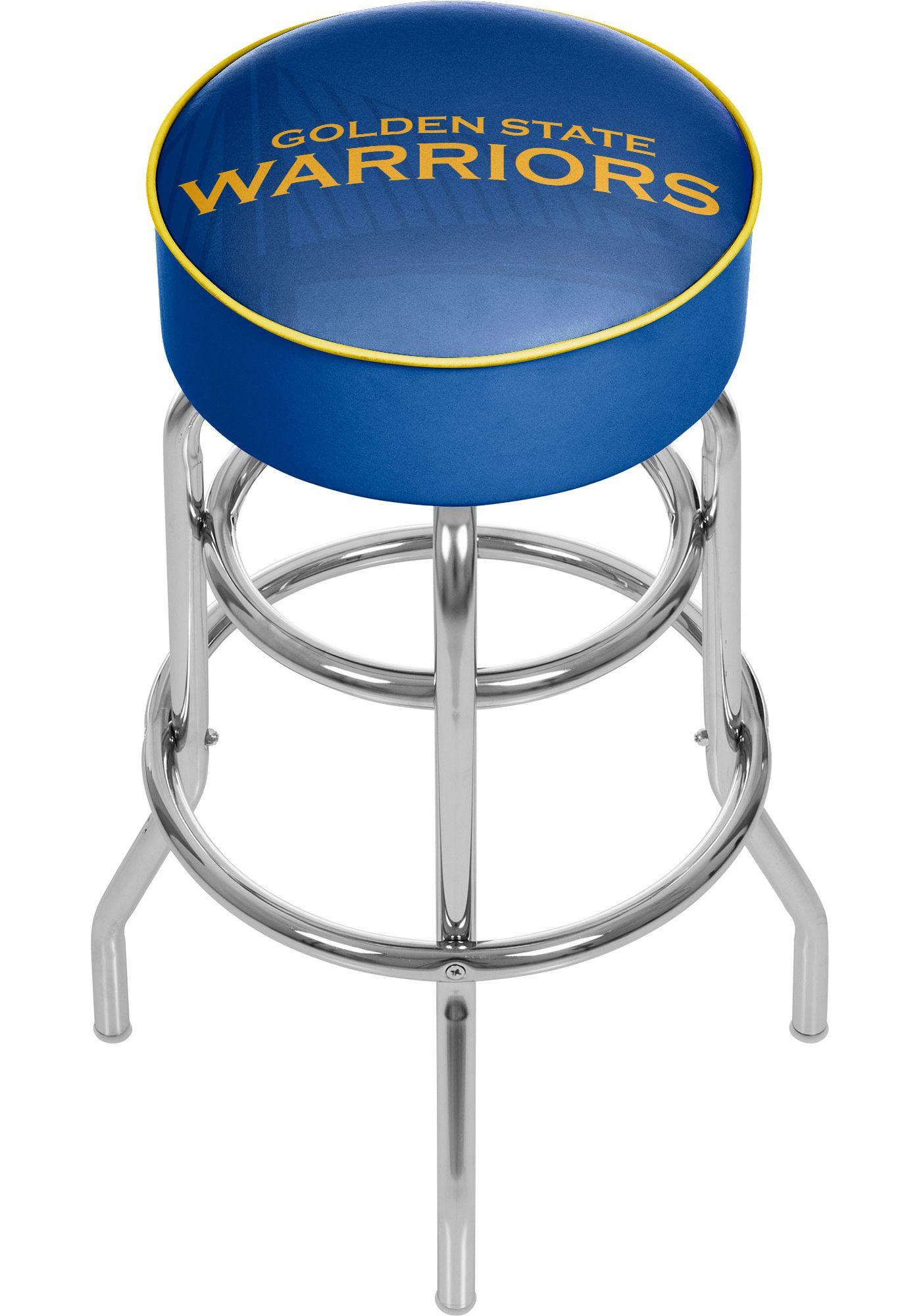 Trademark Global Golden State Warriors Fade Logo Bar Stool