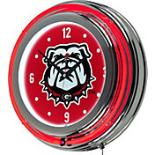Trademark Global Georgia Bulldogs Neon Clock
