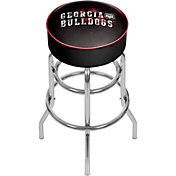 Trademark Global Georgia Bulldogs Smoke Padded Bar Stool