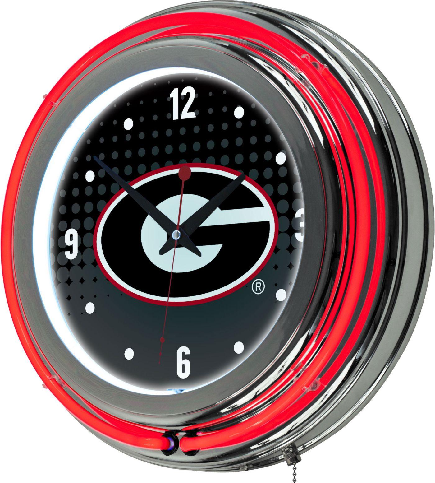Trademark Global Georgia Bulldogs Reflection Neon Clock