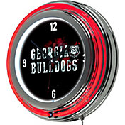 Trademark Global Georgia Bulldogs Smoke Neon Clock