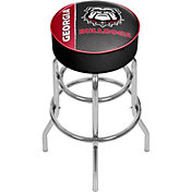 Trademark Global Georgia Bulldogs Text Padded Bar Stool