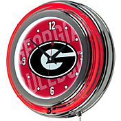 Trademark Global Georgia Bulldogs Wordmark Neon Clock