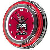 Trademark Global Ohio State Buckeyes Brutus Chrome Neon Block
