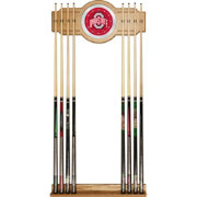 Trademark Global Ohio State Buckeyes Cue Rack with Mirror