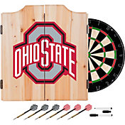 Trademark Global Ohio State Buckeyes Black Dart Cabinet Set